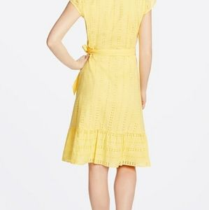 Draper James Striped Eyelet Flutter Sleeve Wrap